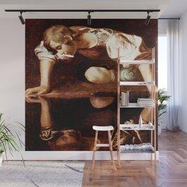 Michelangelo Merisi da Caravaggio, Narcissus at the Source, oil on canvas, 1597-99 Wall Mural