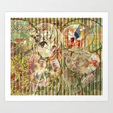 Jeune fille de joie usine (Factory girl joy) (2) Art Print
