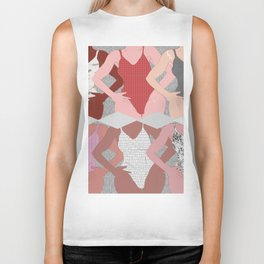 My Thighs Rub Together & I'm OK With That - Positive Female Body Image Digital Illustration Biker Tank