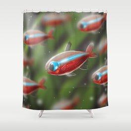 Cardinal tetra Shower Curtain