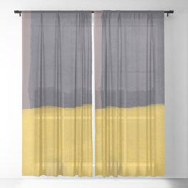 Forsythia Abstract I (square) Sheer Curtain
