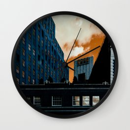 NYC Duotone 4 Wall Clock