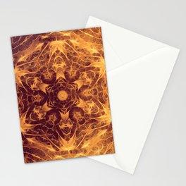 Abstract earth tone mandala Stationery Cards