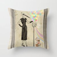 photographer Throw Pillows featuring Photographer   by ezop