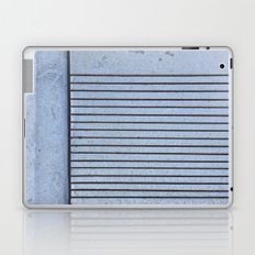Concrete Stripe Blue Laptop & iPad Skin