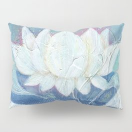 Abstract Lotus Art Acrylic Painting Reproduction by Kimberly Schulz Pillow Sham