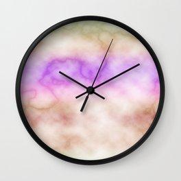 Rainbow marble texture 4 Wall Clock