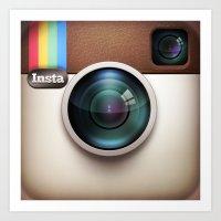 instagram Art Prints featuring Instagram by Max Jones