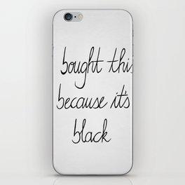 White and black iPhone Skin