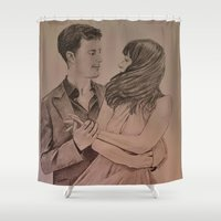 "witchcraft Shower Curtains featuring ""Witchcraft"" - Fifty Shades of Grey by Virginieferreux"