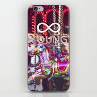 forever young iPhone & iPod Skins featuring Forever Young by farsidian