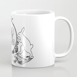 Bunny silhouettes & Frame with Crown Hearty Easter Greetings Coffee Mug