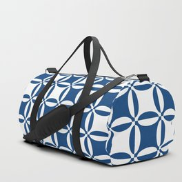 Geometry illusion in blue Duffle Bag