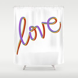 LOVE 2018 Shower Curtain