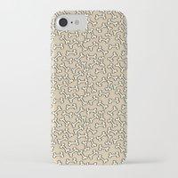 bones iPhone & iPod Cases featuring Bones by Jessica Santos