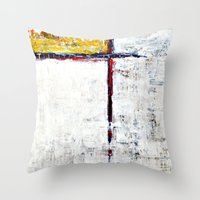 alone Throw Pillows featuring Alone by Claudia McBain