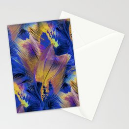 Pheasant Feathers Abstract Stationery Cards