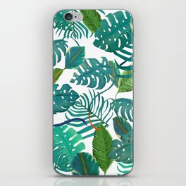 tropical diferent leaves iPhone Skin
