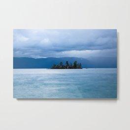 Float On - Island on Autumn Morning at Flathead Lake Montana Metal Print