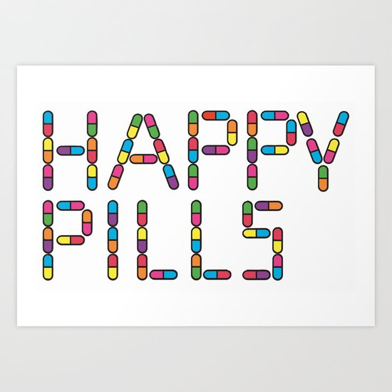 Happy Pills - Nurse Jackie Art Print