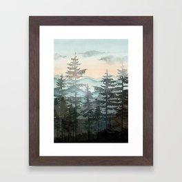 Pine Trees Framed Art Print