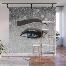Glam diamond lashes eye #1 Wall Mural