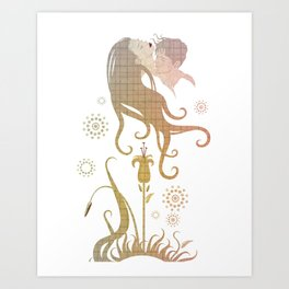Blinded by selfishness Art Print