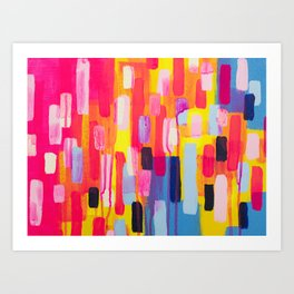 Neon Cities Art Print