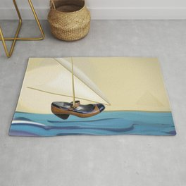 May over the Nile - shoes stories Rug