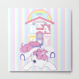 g1 my little pony baby lullabye nursery Metal Print