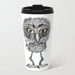 Owl with snowdrop Travel Mug