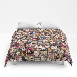 Anime angry faces Comforters
