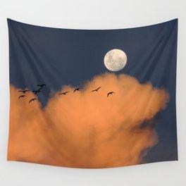 Moon cloud sky 7 Wall Tapestry