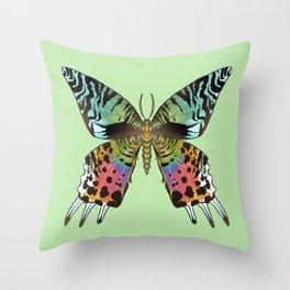 Sunset Moth Throw Pillow