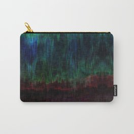 Distorted Ikat Carry-All Pouch