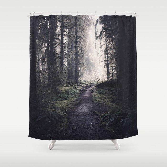 Magical Washington Rainforest Shower Curtain