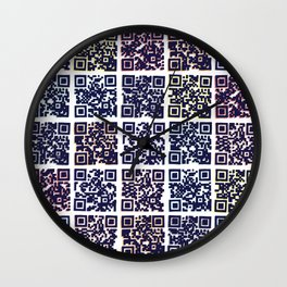 QR Codes to Playlists Wall Clock