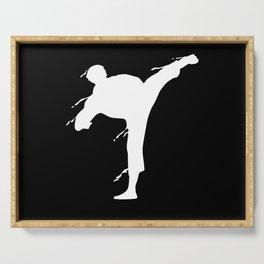 Karate Fighter Martial Art MMA Motif Serving Tray