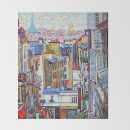 Montmartre View Throw Blanket