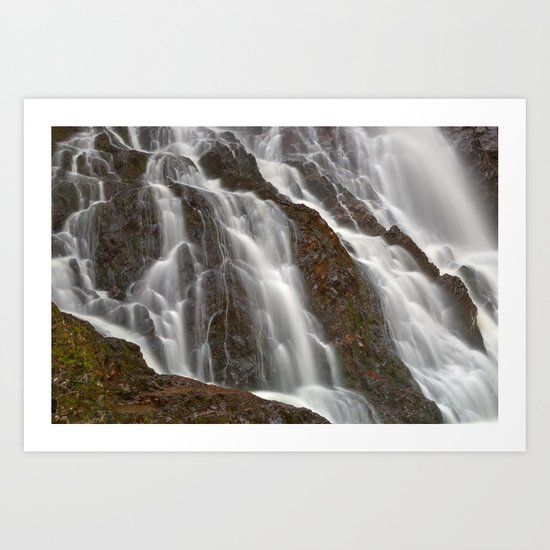 Hays Cascading Falls Art Print