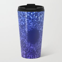 Sci Fi Abstract Outer Space Universe  Mystic Blue Travel Mug