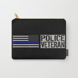 Police Veteran: The Thin Blue Line Carry-All Pouch
