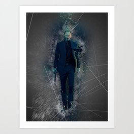 John Wick Abstract Art Print