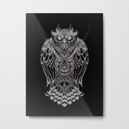OWL - SOLDIER OF THE NIGHT Metal Print