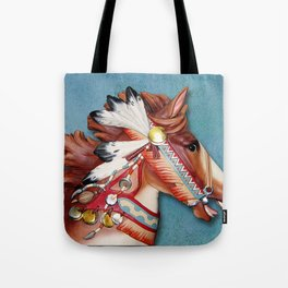 Indian Pony Head Tote Bag