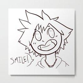 Kingdom Hearts Sora Smile Outline Metal Print