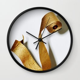Gold Toilet Paper Wall Clock