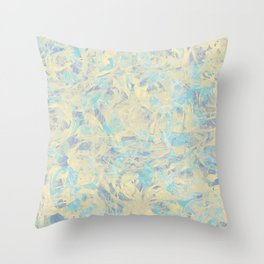 Marbled Flowers Throw Pillow