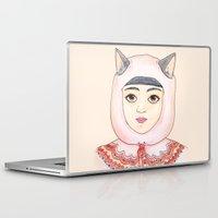 robin hood Laptop & iPad Skins featuring Hood by Juliette Dudley