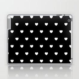 HEARTS ((white on black)) Laptop & iPad Skin